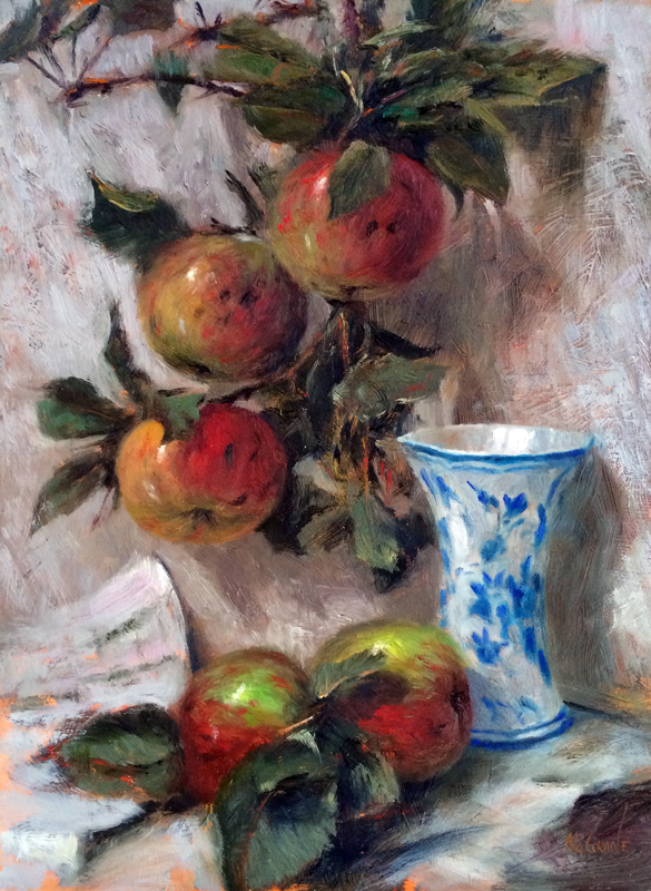 Henry McGrane Still life with apples