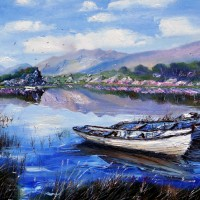 Salmon Boats, Upper Lake, Killarney