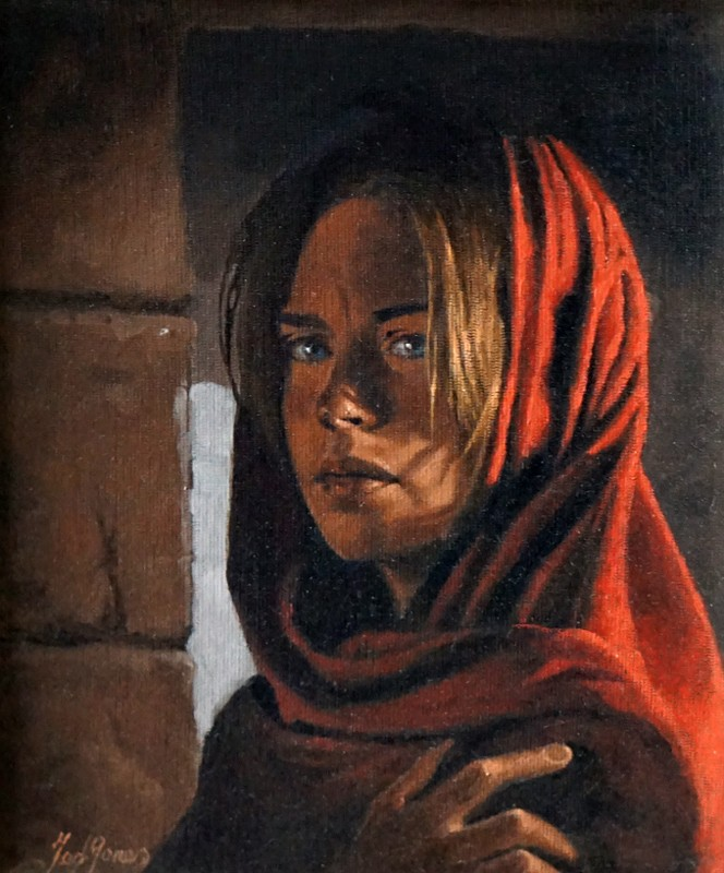 Ted-Jones-The-Red Scarf-25x20-3250-KAGP364